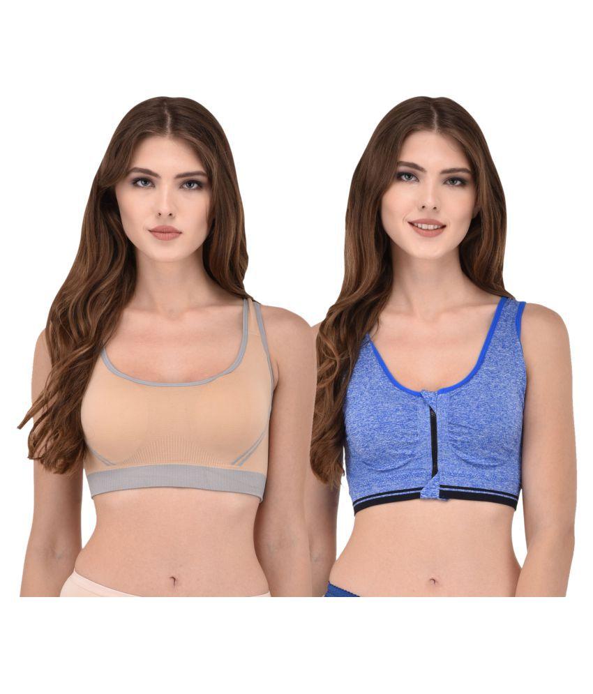 Pif Tif Cotton Sports Bra - Multi Color