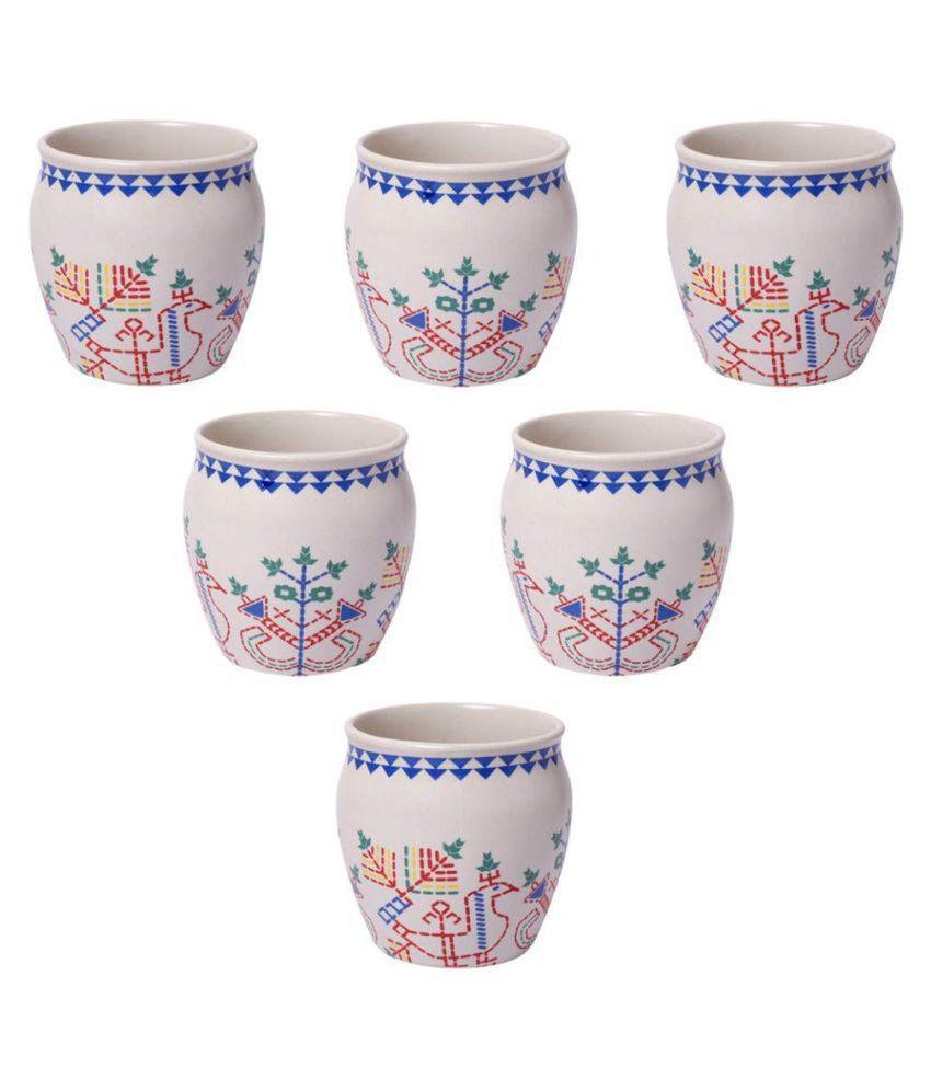 Tashveen Articles Off White Kullads set of 6 Stoneware Tea Cup 6 Pcs Buy Online at Best Price in India - Snapdeal  sc 1 st  Snapdeal & Tashveen Articles Off White Kullads set of 6 Stoneware Tea Cup 6 Pcs ...