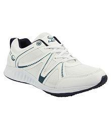 Lancer White Running Shoes