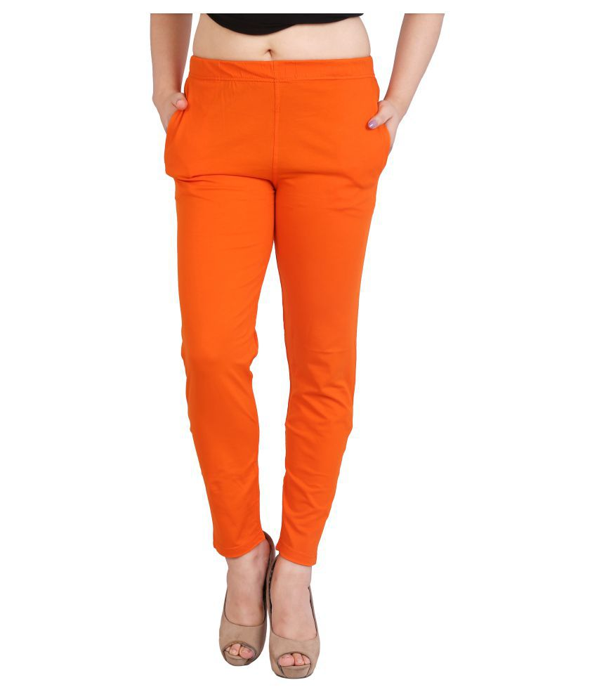 FCK-3 Cotton Jeggings - Orange