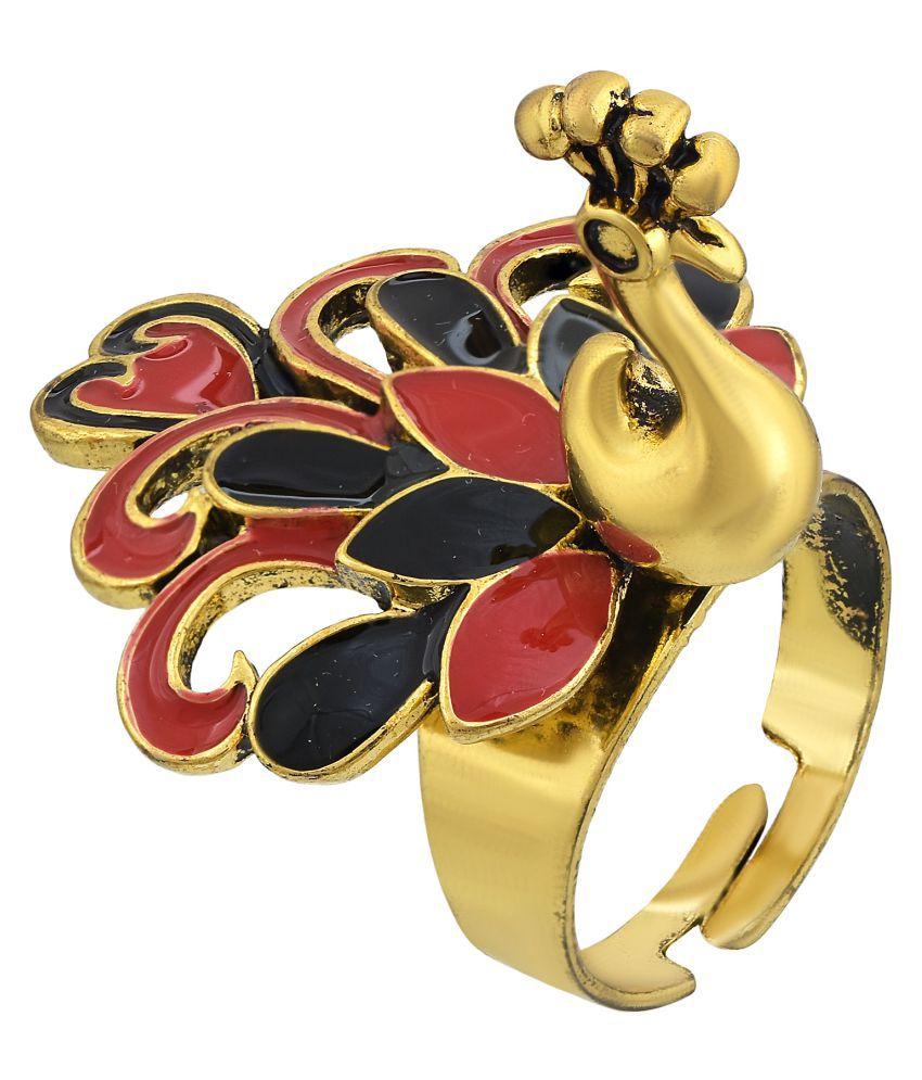 5ba58d7f767ef Memoir Gold Plated, Designer Created, Pachikari Work,Red & Black ...