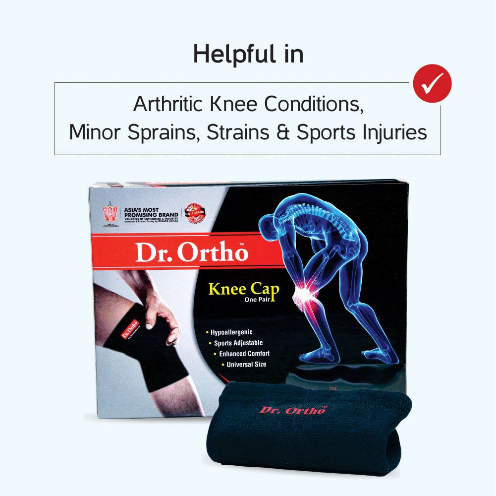 competitive price 038dd 34331 ... Dr Ortho Knee Cap, 1 Pair, Universal Size (Knee Cap for Knee Pain ...