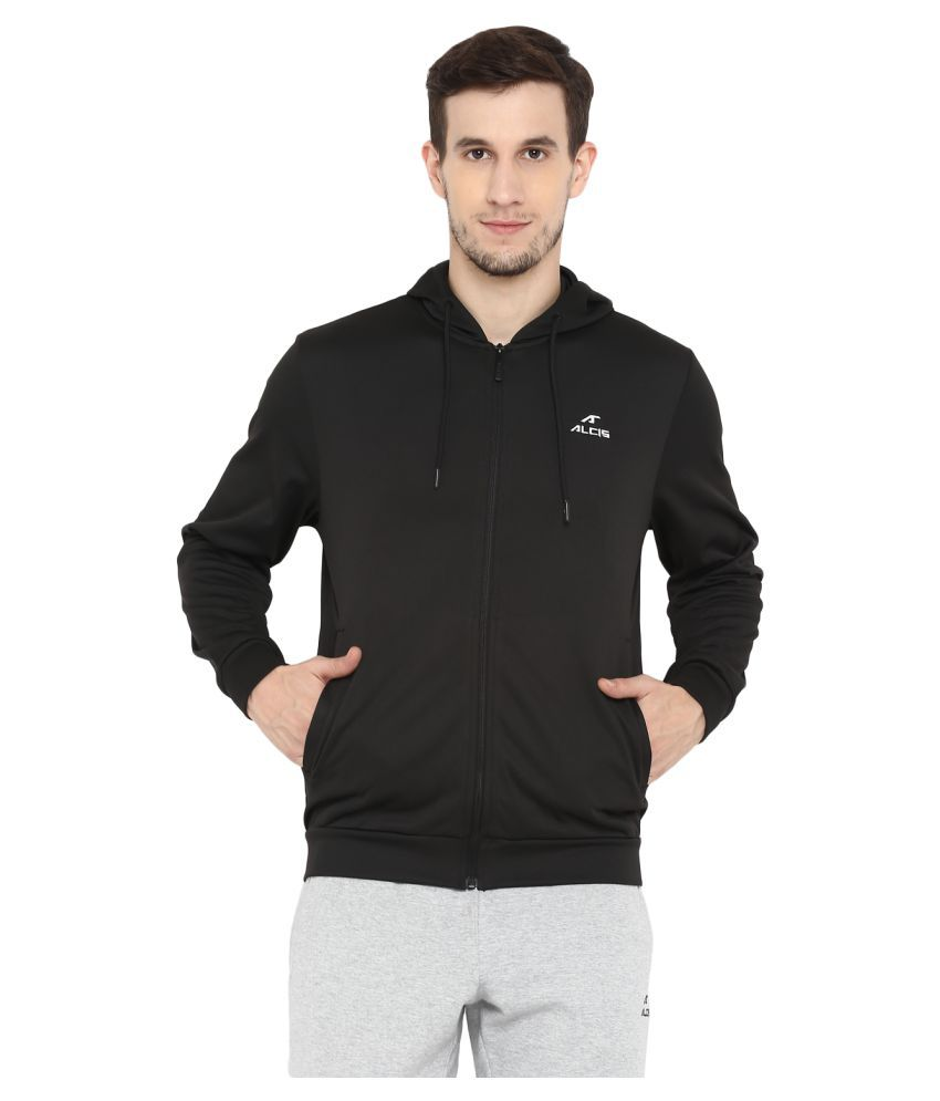 Alcis Black Polyester Terry Jacket Single Pack
