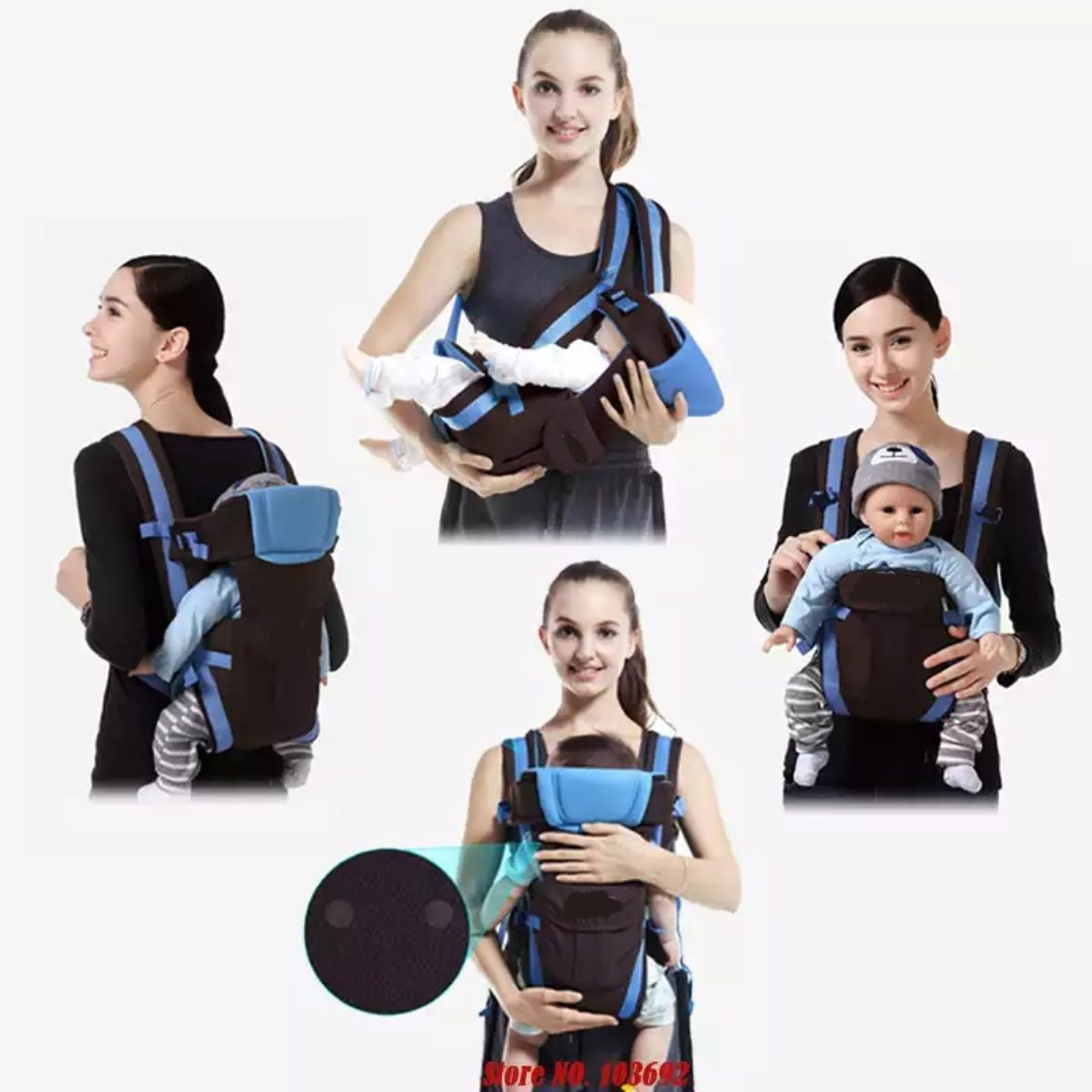 Baby 5 In 1 Carrier Bag With Different Positions Baby Carrier (Black /  Blue, Front Carry Facing Out With Belt) - Buy Baby 5 In 1 Carrier Bag With  Different Positions Baby Baby Carry Bags