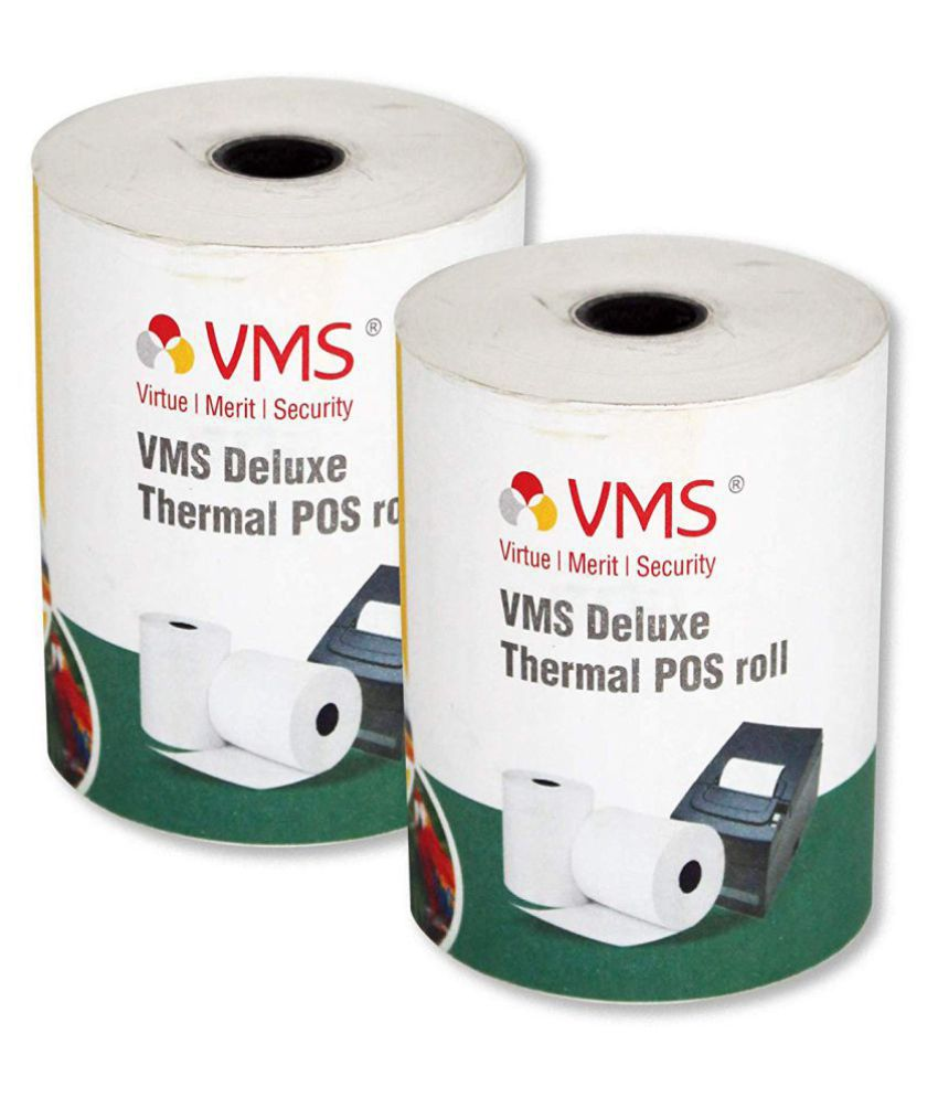 VMS Deluxe Machine Rolls Thermal Paper Rolls 78mm (Width) x 62mm (Depth) X  50 Mtr (Length) POS Rolls (Set of 2)