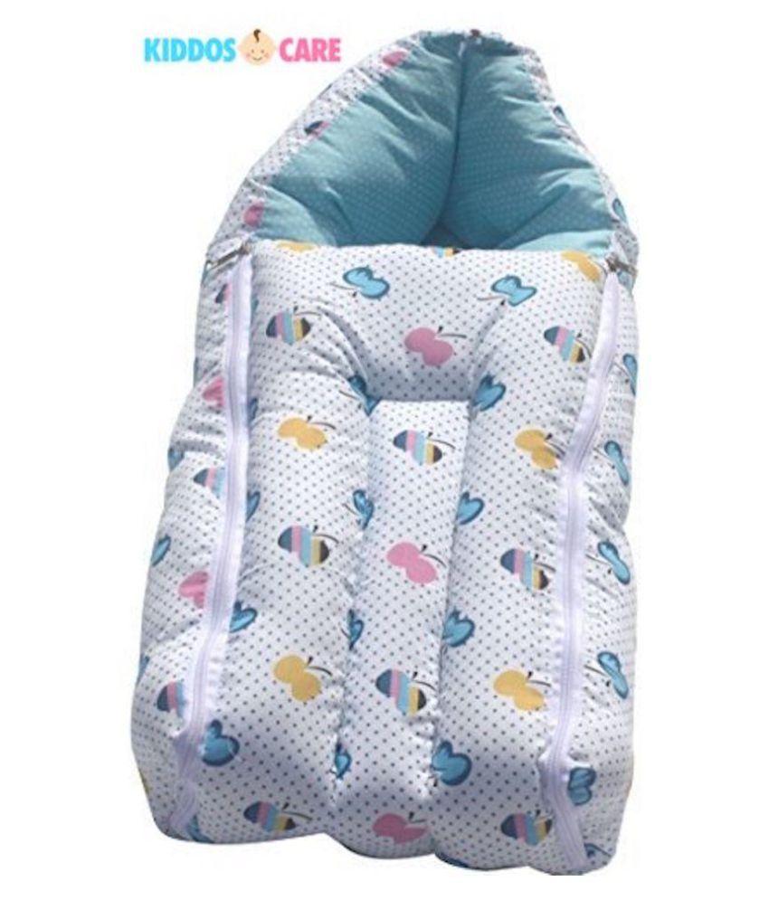 KiddosCare Blue Cotton Sleeping Bags ( 82 cm × 45 cm)