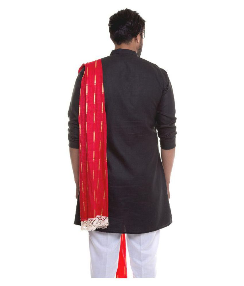 2b7e28b898 S9 Men Black Cotton Blend Pathani Suit Pack of 1 - Buy S9 Men Black ...