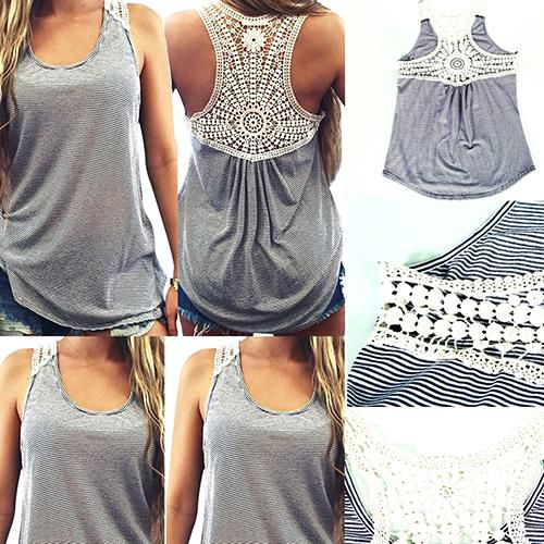0e6a8dde7b8d6 Buy Women Summer Fashion Lace Vest Patchwork Sleeveless Casual Sexy Basic Tank  Top Online at Best Prices in India - Snapdeal