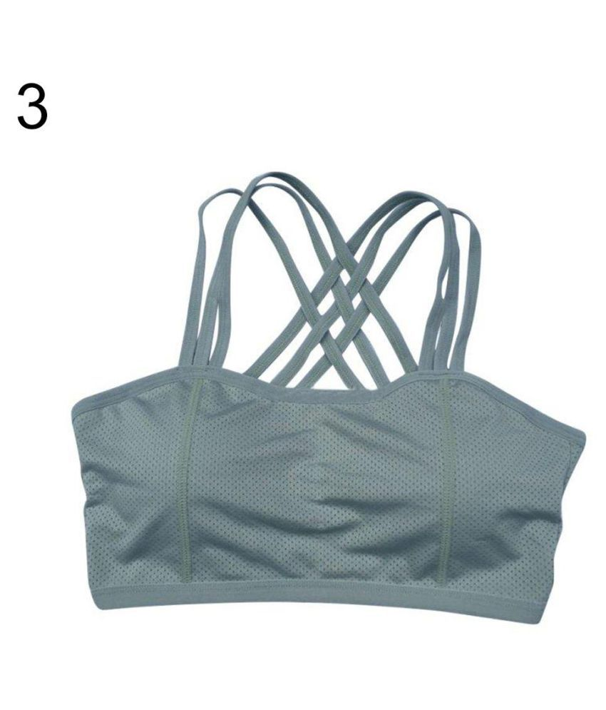 Women Cross Strap Backless Fitness Running Dry Quick Sports Bras Tank Tops