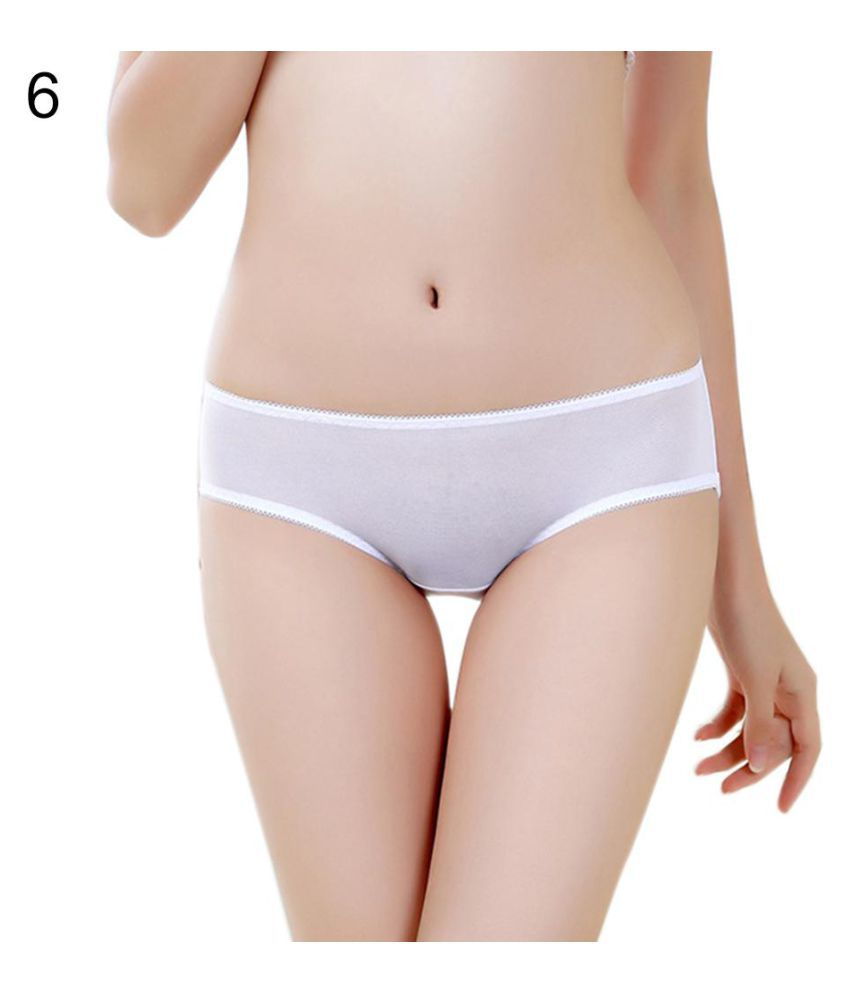 Buy Women y Breathable Solid Color See Through Panties Thong