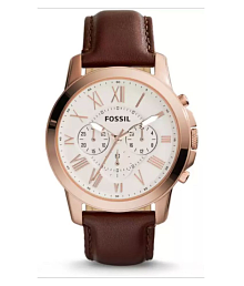 FOSSIL WATCH FS4682 Leather Chronograph Men's Watch