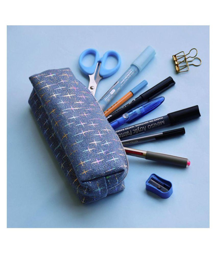 Doodle Blue Cosmetic Pouch