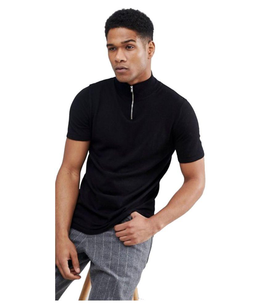 PAUSE Black Half Sleeve T-Shirt