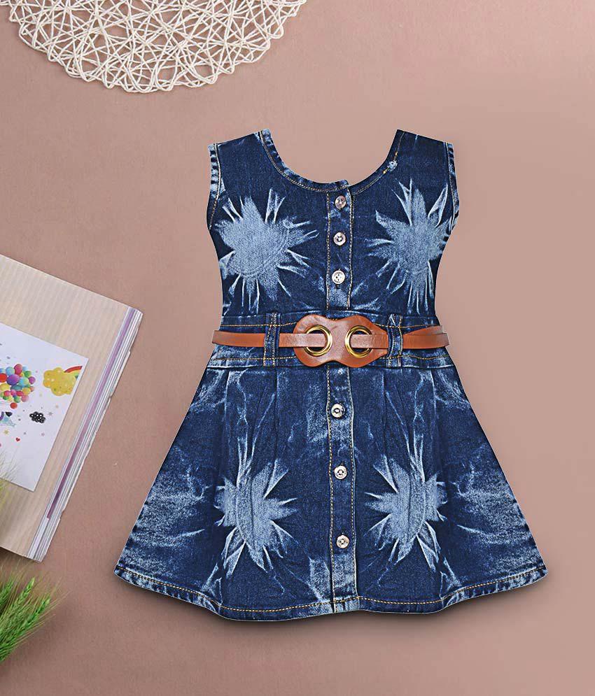 b60ace9caa5f Benkils Cute Fashion Baby Girl s Infant Jeans Party Wear Frock Dress ...