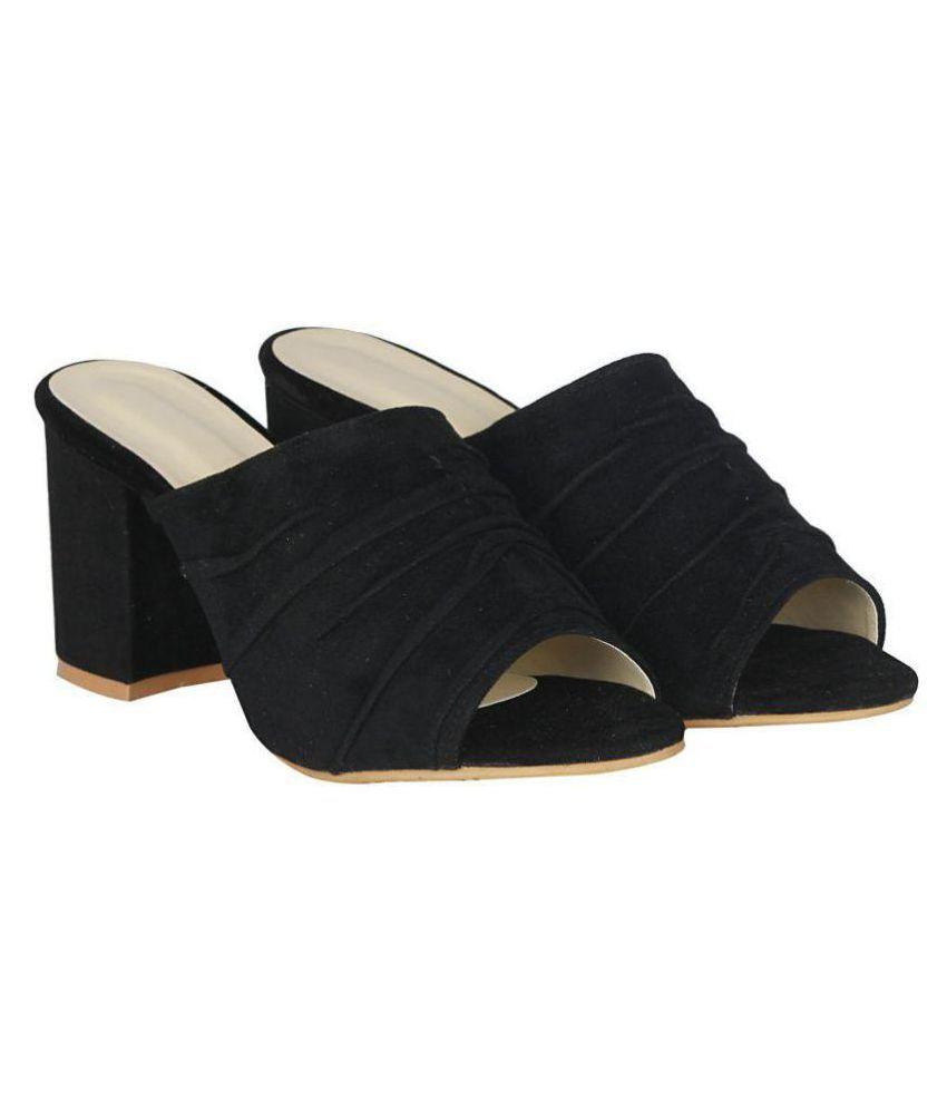 MISTO Black Block Heels