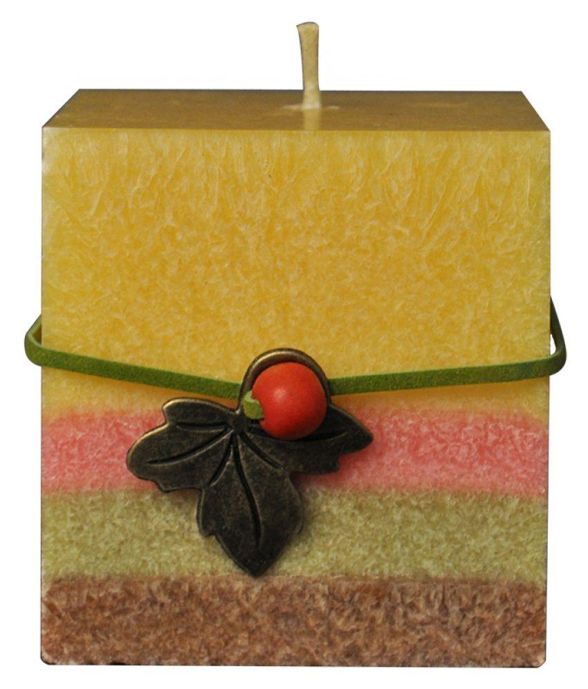 EZ Life Yellow Pillar Candle - Pack of 1