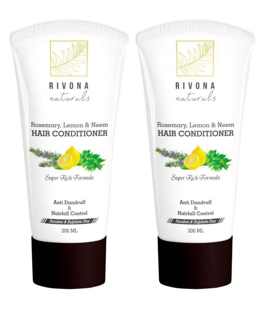 RIVONA NATURALS Rose merry, Lemon and neem conditioner Leave In Conditioner 200 ml Pack of 2