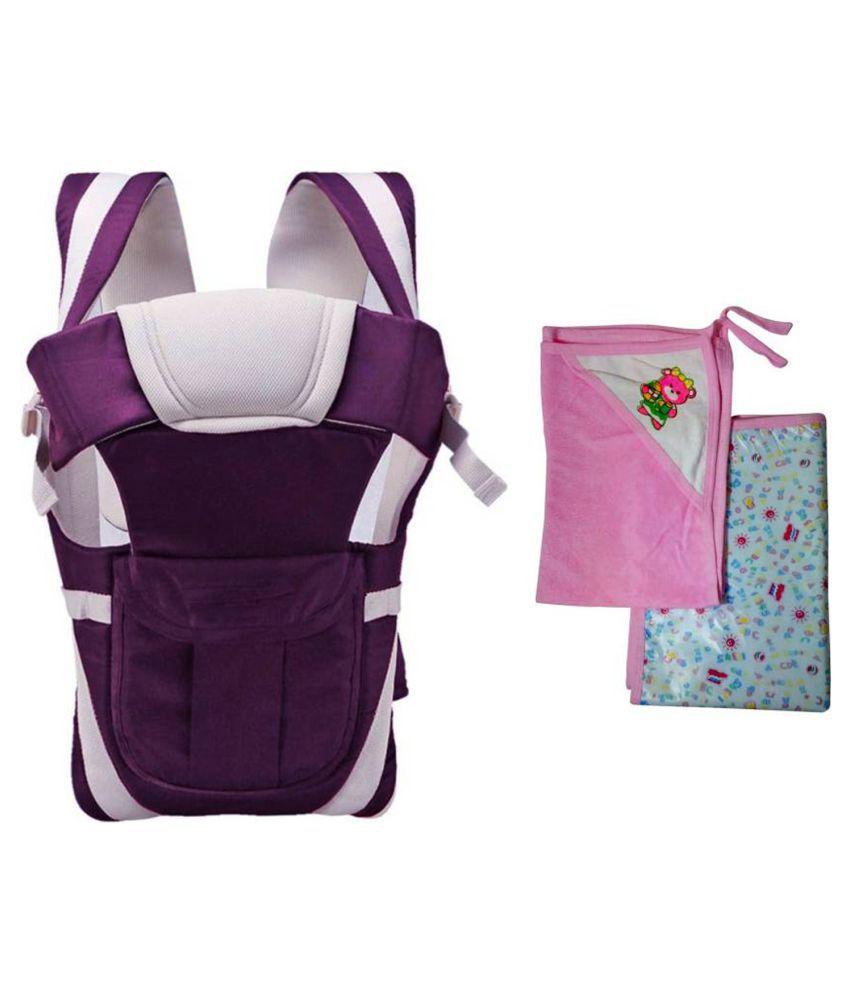 Welo Purple Cotton Baby Wrap cum blanket ( 200 cm × 130 cm - 1 pcs)