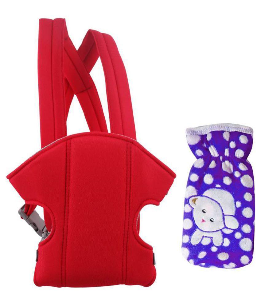 Welo Red Cotton Baby Wrap cum blanket ( 200 cm × 130 cm - 1 pcs)