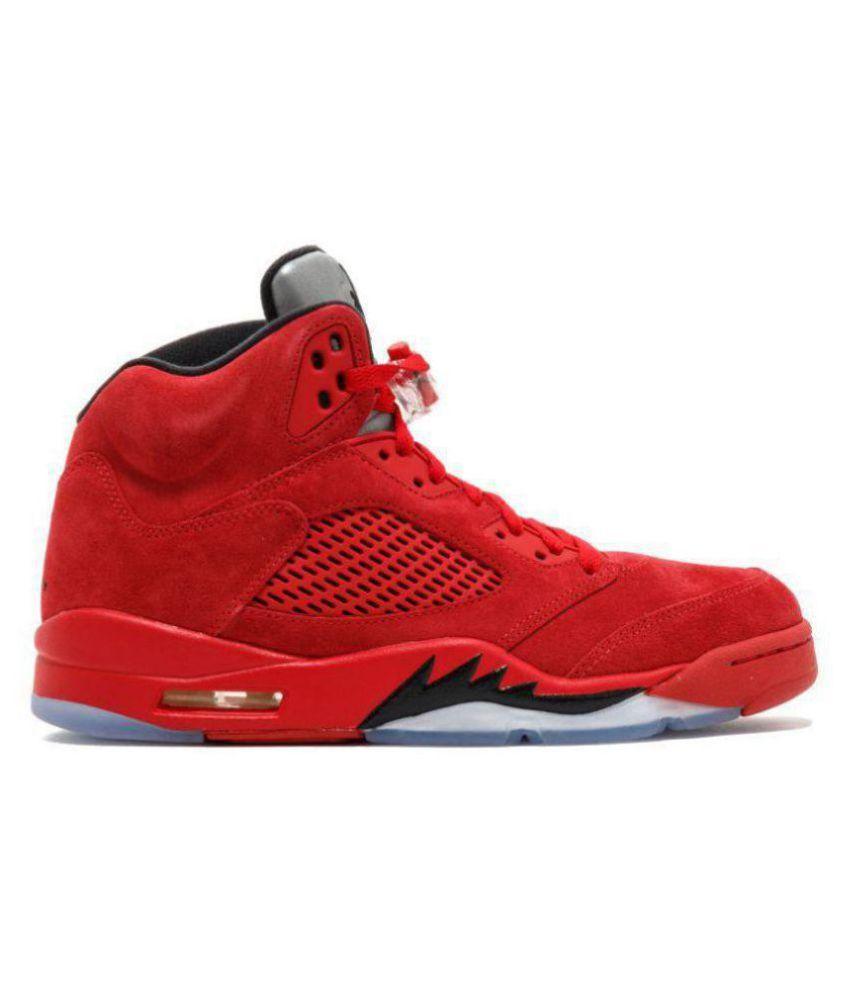 Shoes Jordan 5 Nike Retro Red Basketball ZkXOPiu