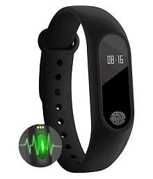 Leco M2 Heart Rate Smart Band Fitness Band (Black)