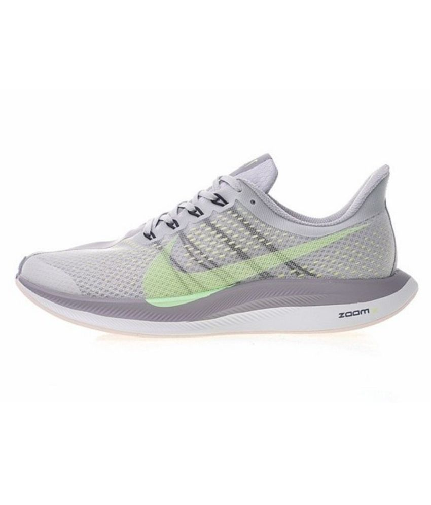 6db6e799447 Nike Air Zoom Pegasus 35 Turbo 2 2019 Running Shoes Gray For Gym Wear  Buy  Online at Best Price on Snapdeal