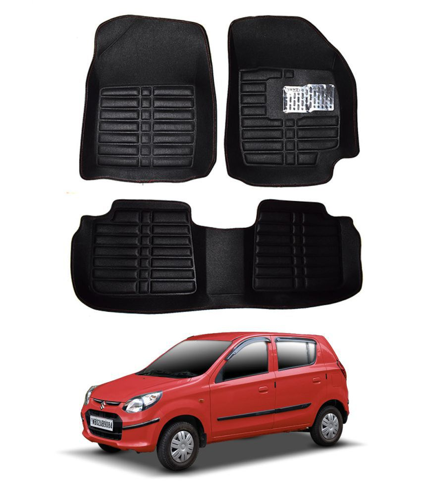 5D car mat for Maruti Suzuki Alto 800 Black Color: Buy 5D
