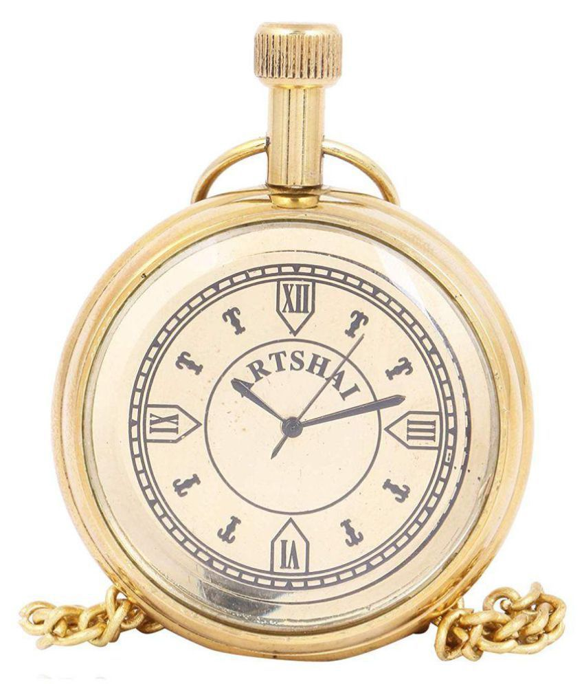 Artshai Round Analog Pocket Watch Chain