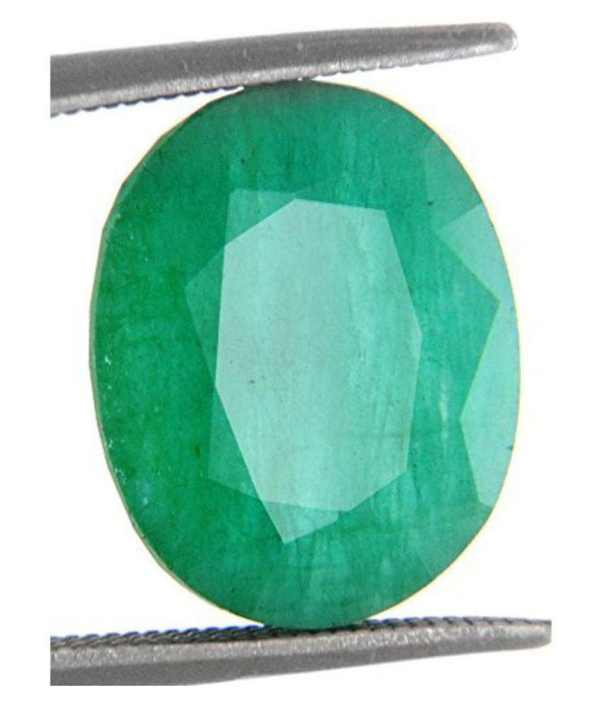 Color Gems Natural Emerald Gemstone (Panna) 7.25 Ratti