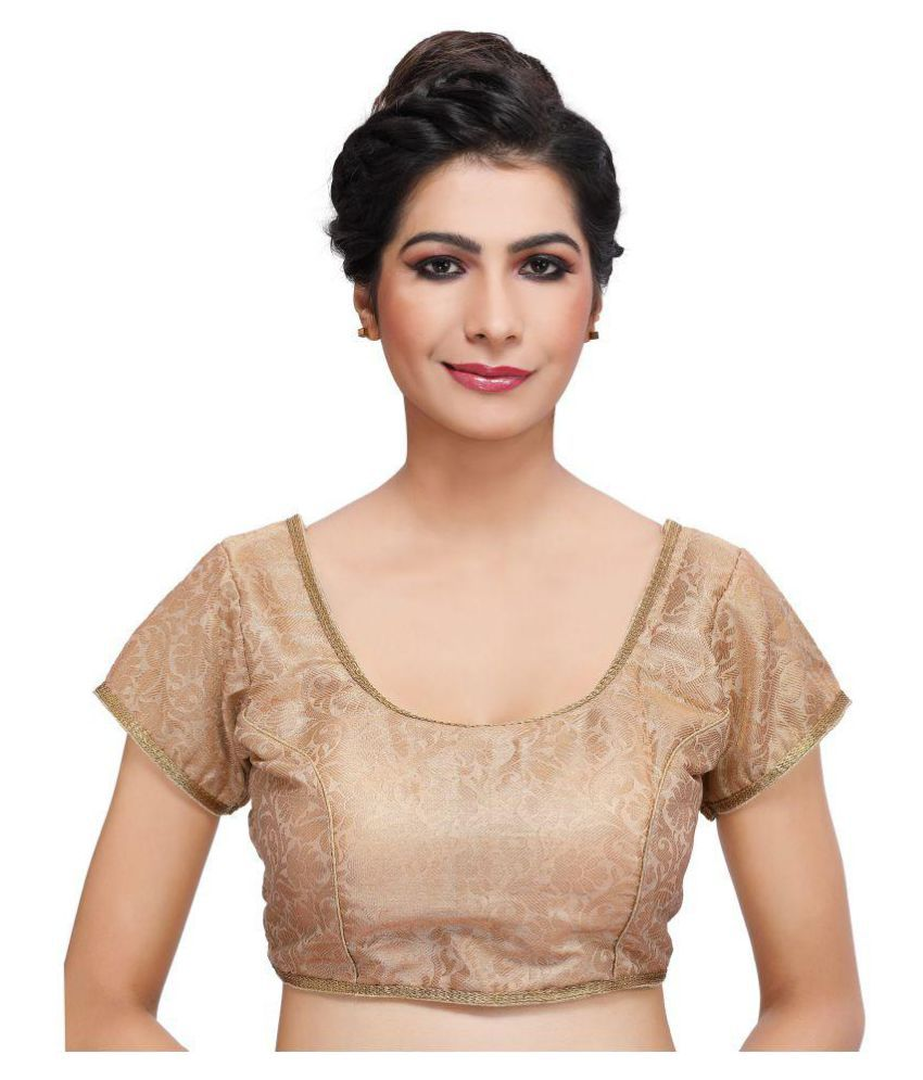 PKYC Gold Brocade Readymade with Pad Blouse