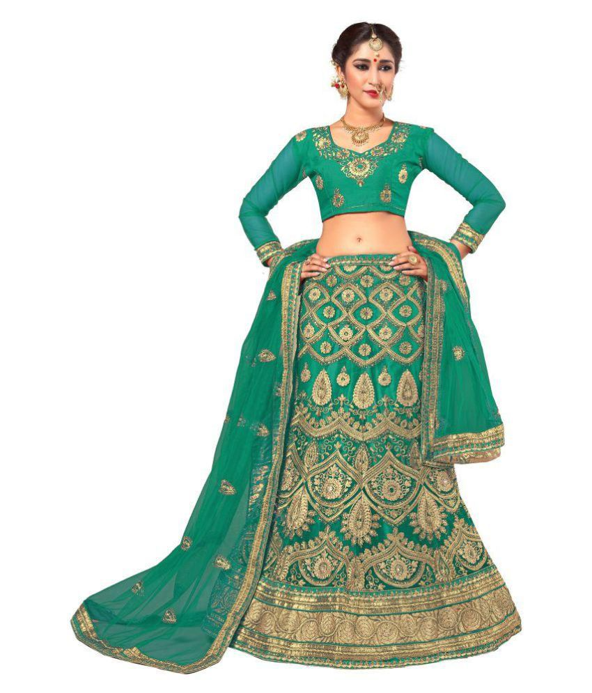 50e2052303 Ujjwal Creation Green Net A-line Semi Stitched Lehenga - Buy Ujjwal  Creation Green Net A-line Semi Stitched Lehenga Online at Best Prices in  India on ...