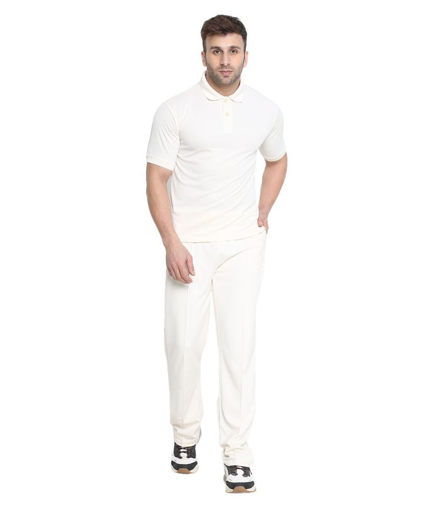 CHKOKKO Half Sleeves Active Wear Sportswear Full Cricket Set Or Suit Of T Shirt and Trousers for Mens and Boys