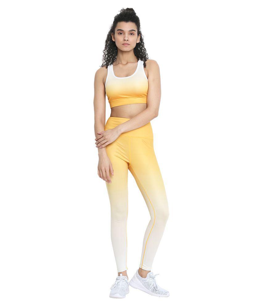 CHKOKKO Sports Bra and Yoga Pant Gym Wear Fitness Training Set for Women