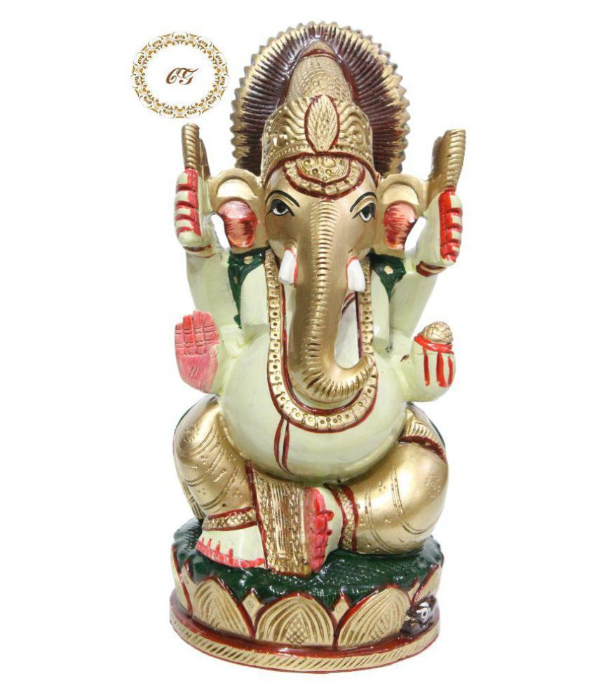Crafts Gallery Wood Ganesha Idol x cms