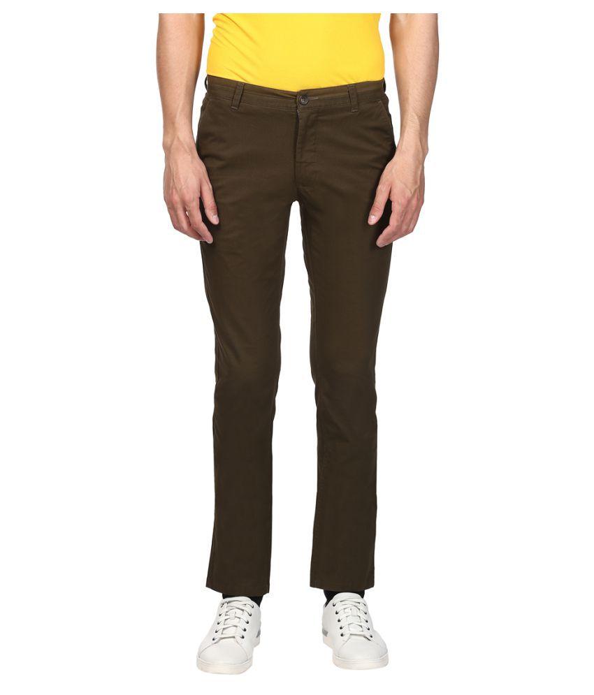 Colorplus Green Regular -Fit Flat Trousers
