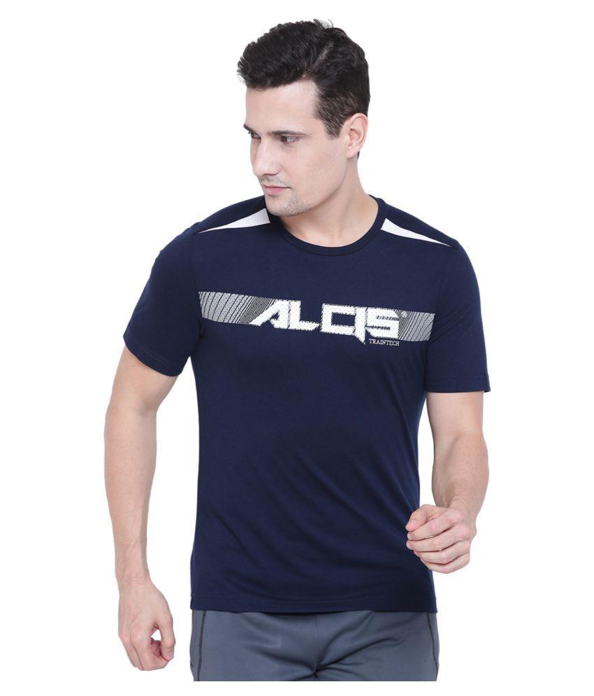 Alcis Blue Half Sleeve T-Shirt Pack of 1