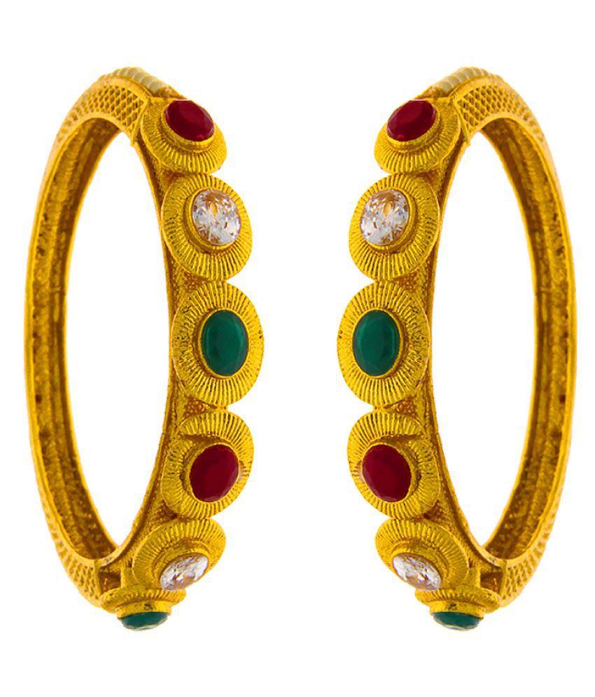 Anuradha Art Maroon-Green Colour Wonderful Trendy Bangles Set For Women/Girls