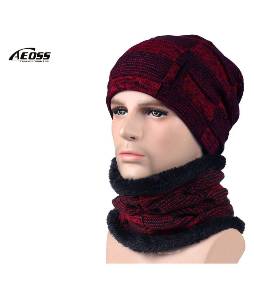 Autumn Winter Unisex hat Hats Knitted Wool Warm Scarf Thick Wind Beanie Multifunctional Scarf hat for Women Men Newest by Aeoss