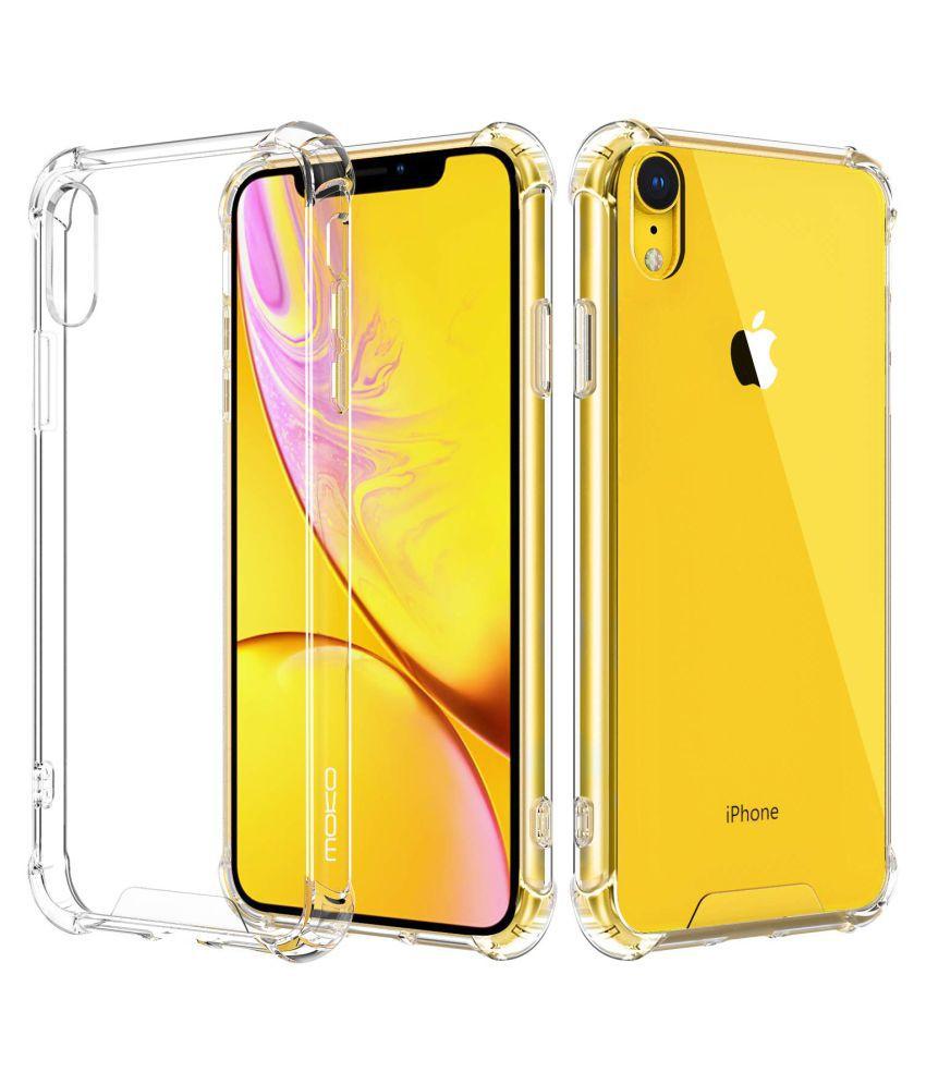 reputable site 026e7 58384 Apple iPhone XR Bumper Cases Amica - Transparent Cover Four Corner
