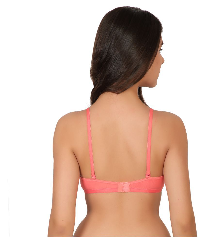 3a82007eec Buy ZARA PLUS Cotton Lycra Sports Bra - Red Online at Best Prices in ...