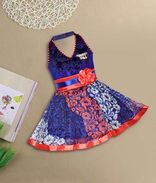 8f1d8c98f42 Kifayati Bazar Girls Midi Knee Length Casual Dress(Multicolor ...