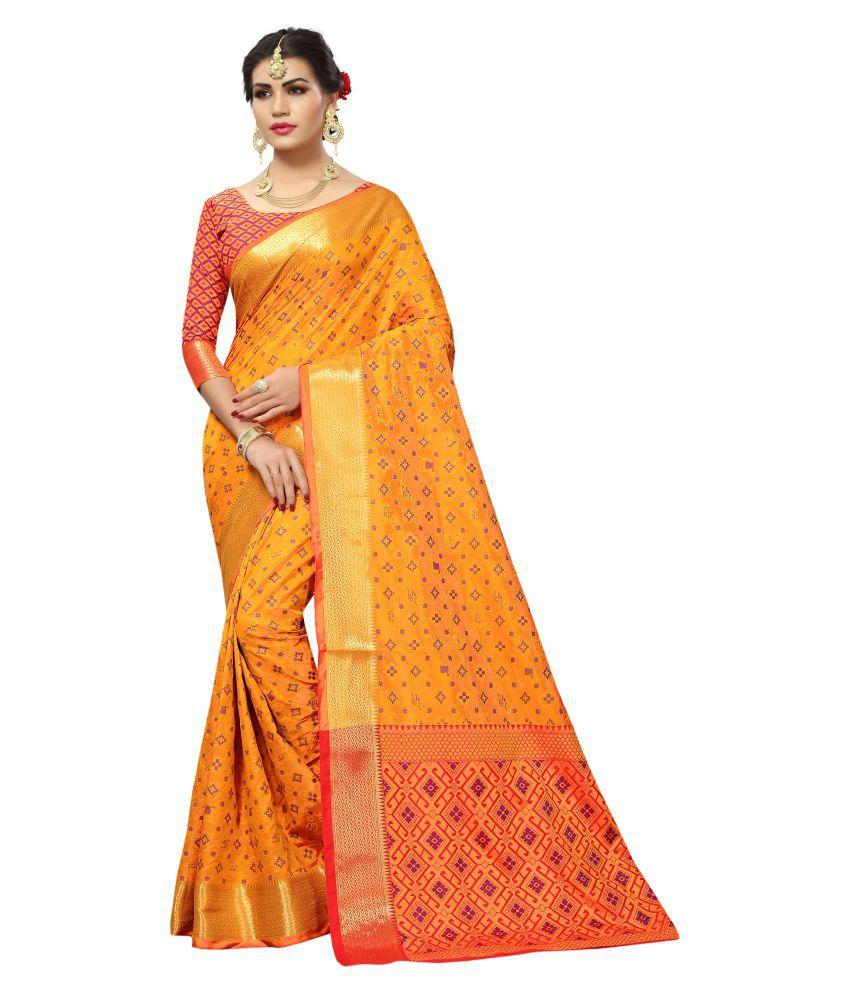 Yashvi Designer Yellow Banarasi Silk Saree