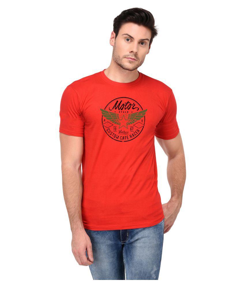 Aswa RED Half Sleeve T-Shirt