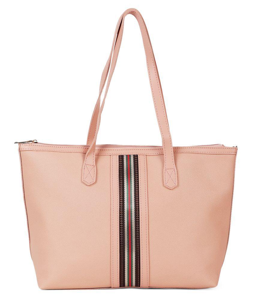 Kielz Pink Synthetic Casual Messenger Bag