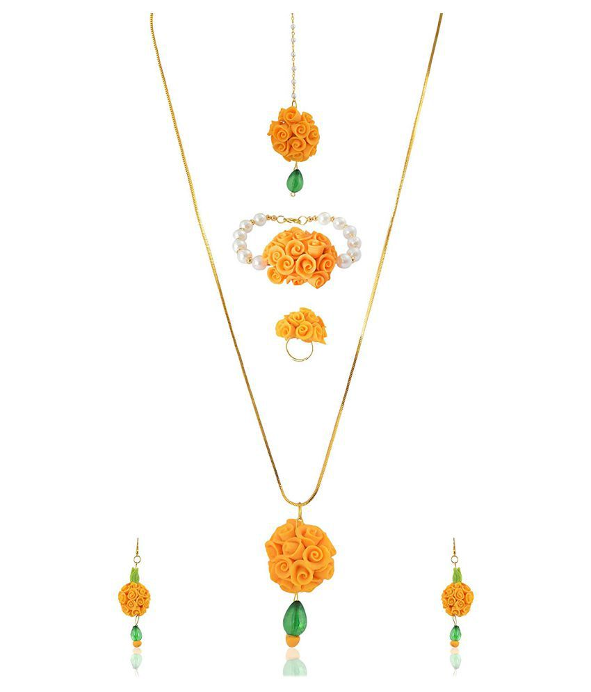 unique indian craft Handmade procelian work  Full Jewelry Set Necklace/ Earring/ Mangtika/ Braclet/Ring for women /girls