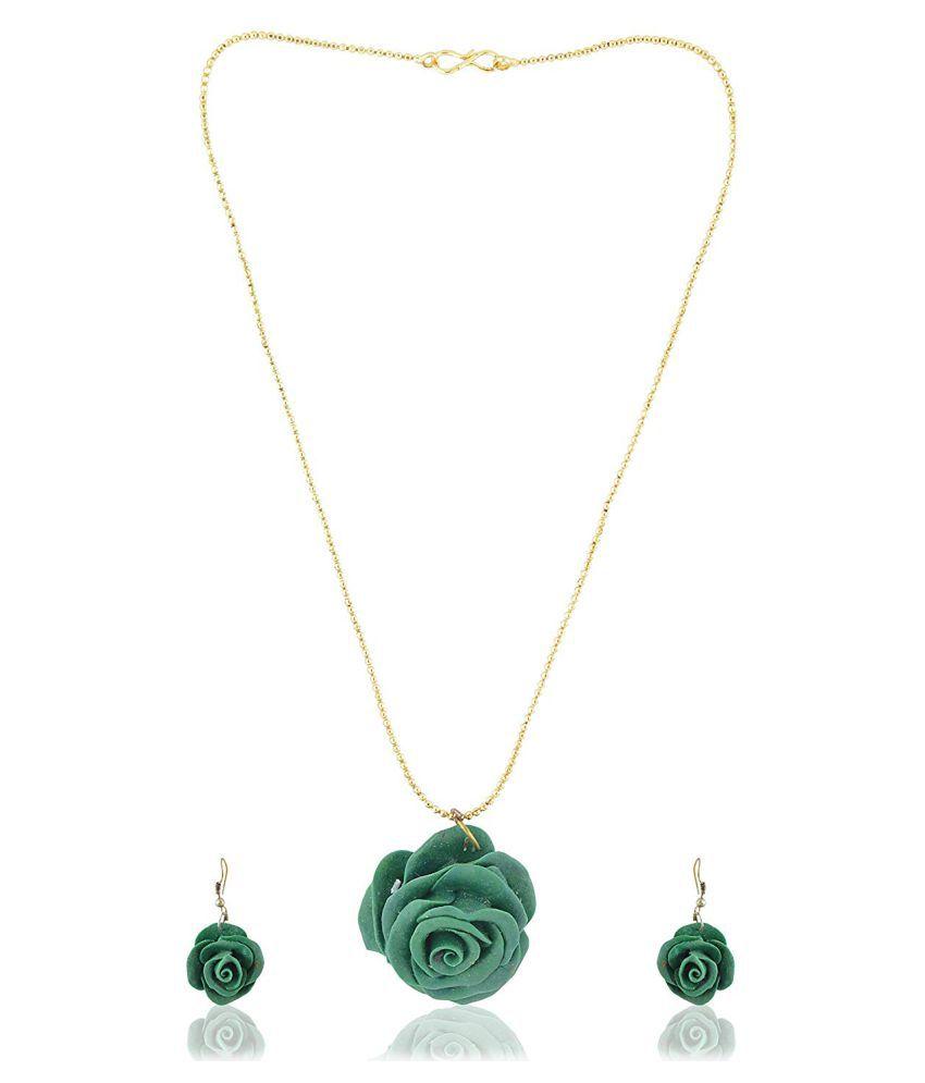 unique indian craft Handmade procelian work  Jewelry Set Necklace/ Earring  for women /girls