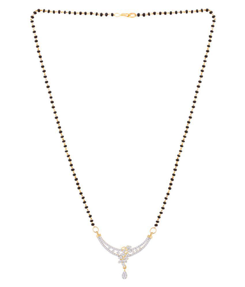 Voylla Sparkling Crescent Mangalsutra Set with Delicate Drop