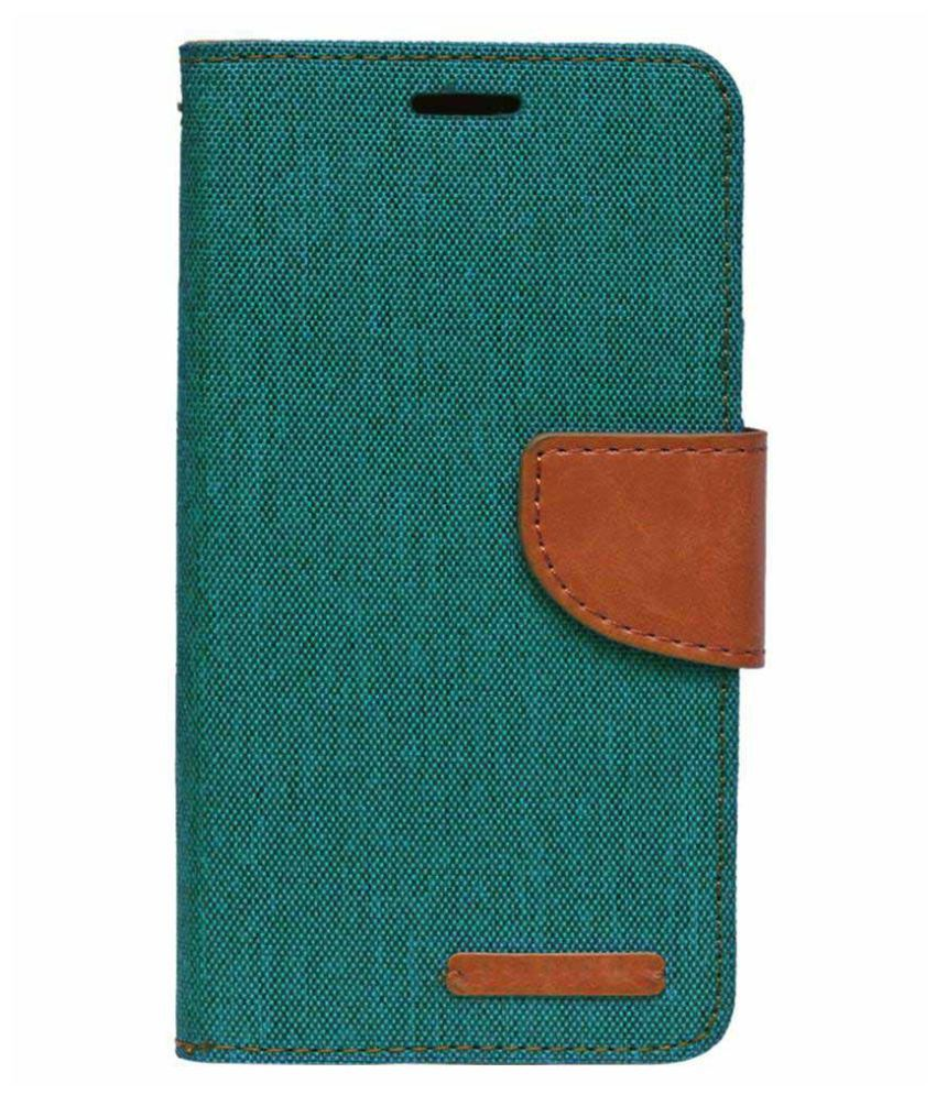 best loved e7d4f 6dcff Samsung Galaxy E7 Flip Cover by PMR - Green