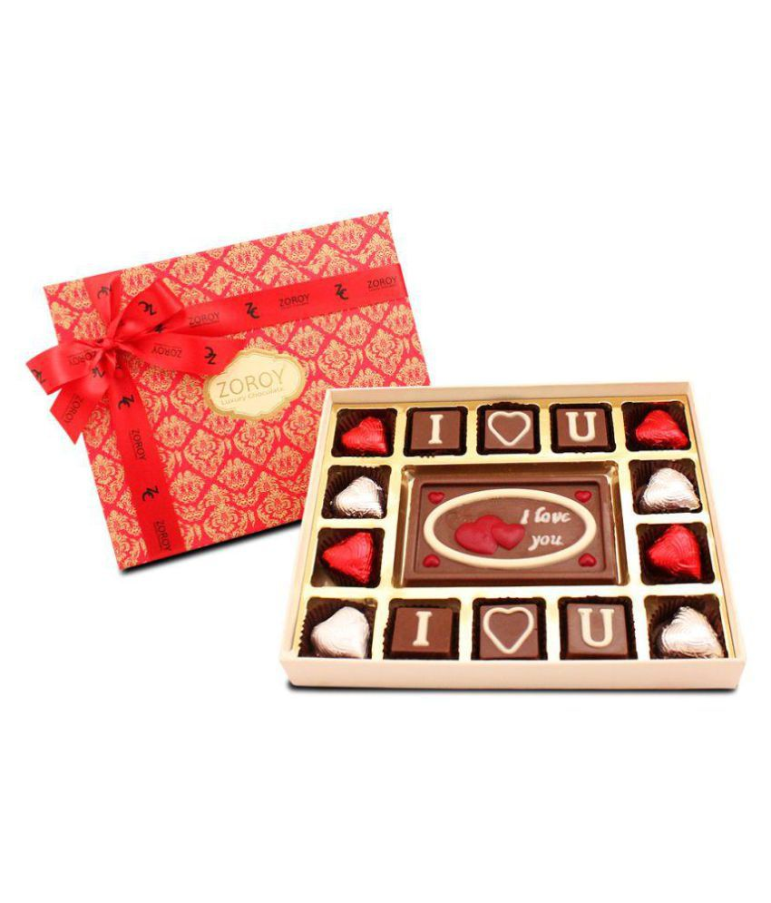Zoroy Luxury Chocolate Valentine's Day Assorted Box Valentine day chocolate 190 gm