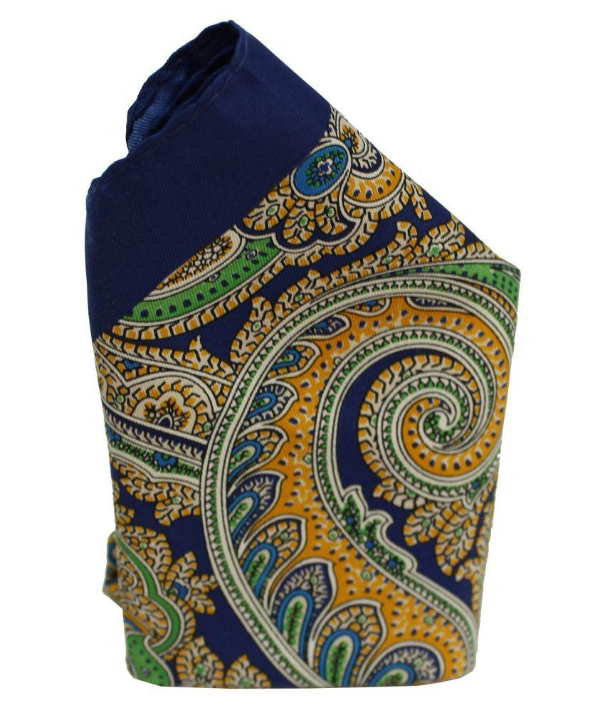 Leonardi Men's Multicolour Polyester Casual Free Size Pocket Square